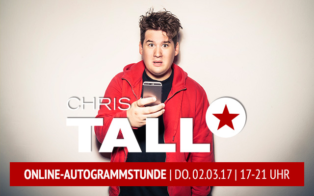 chris tall eventim online autogrammstunde tickets 2017